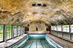 A swimming pool in the 1936 Olympic village in Elstal, Germany.