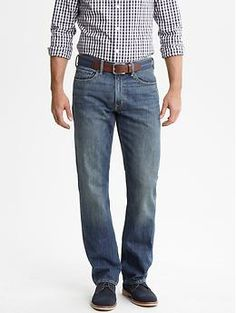 Straight-fit indigo jean | Banana Republic