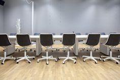 In-tensive table (design Jouni Leino) and Kola chairs (design Mikko Laakkonen)