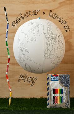 Learning about mother Earth has never been this fun! Simply inflate, colour, learn & play! www.seedling.com