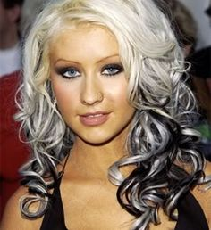 Silver And Black Hairstyles   Christina Aguilera) Two-Toned Hair:(+Example..+MeezExample!)