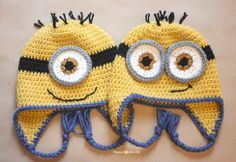 http://www.repeatcrafterme.com/2014/01/crochet-minion-hat-pattern.html