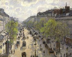 "Camille Pisarro, ""Boulevard Montmartre, tarde de primavera"". Óleo sobre tela, 1897."