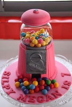 A neat gumball cake. Happy birthday indeed!