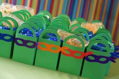 TMNT Ninja Turtles themed birthday party via Kara's Party Ideas : The Favors