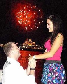 proposal at Disney World in front of Cinderella's castle <3