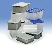 "TU2037c STACKING PLASTIC BOX. & Lid .10litre. - 1000USES STACKING CONTAINERS ""CLEARLY BETTER BOXES"" - Product"