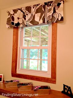 How To Make A Valance From A Really Long Curtain -