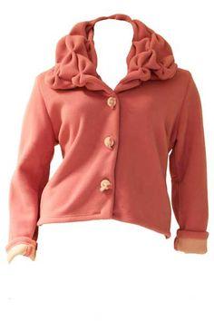 Industries fleece jasje smockkraag in roze. http://www.borisindustries.nl/boris-industries-fleece-jasje-smock-paars