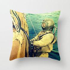 Beach Pillow Cover  Scuba Dive