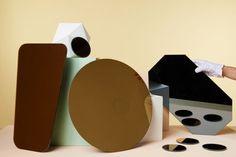 Miroir mural rectangulaire / 45 x 25 cm Rectangulaire - Cuivre - & klevering