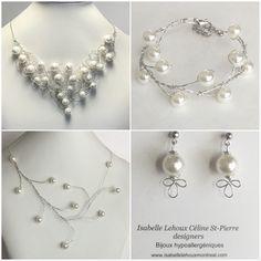 Ensemble Bijoux Fantaisie Perles Classique Pearl Necklace, Bracelet, Jewelry, Fashion, Silver Color, Fantasy, Classic, Beads, Locs
