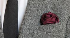 The Flower Fold - How To Fold a Pocket Square