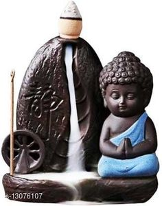 Religious Idols & Paintings Meditating Monk Buddha Smoke Backflow Cone Incense Holder Material: Poly Resin Pack: Pack of 1 Product Length: 10 cm Product Breadth: 10 cm Product Height: 10 cm Country of Origin: India Sizes Available: Free Size   Catalog Rating: ★4.5 (909)  Catalog Name: Unique Idols & Figurines CatalogID_2550378 C128-SC1316 Code: 202-13076107-165