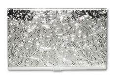 Stainless Steel Business Card Holder Silver Leaves Choosy Shopper http://www.amazon.com/dp/B001LDDLE2/ref=cm_sw_r_pi_dp_7A6Fub19AWV8X