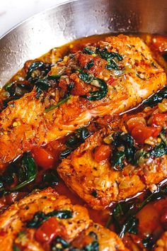 Tuscan Garlic Butter Salmon – – This easy and healthy salmon recipe takes just a few minutes of prep and makes a perfect weeknight meal in 30 minutes or less. – by Tuscan Garlic Butter Salmon – – This easy and healthy salmon recipe takes just a few … Salmon Dishes, Fish Dishes, Seafood Dishes, Seafood Recipes, Dinner Recipes, Cooking Recipes, Salmon Meals, Skillet Recipes, Lunch Recipes