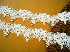2 yard Ivory Classical Rose Lace for Dress making by lacetime, $7.99