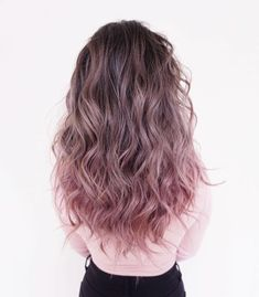 145 ombre hair looks that diversify common brown and blonde ombre hair 38 Cute Hair Colors, Hair Dye Colors, Ombre Hair Color, Hair Color Dark, Cool Hair Color, Purple Hair, Ombre Hair Brunette, Dusty Pink Hair, Brown Hair Ombre Pink