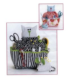 Sewing Caddy #cat #craft pattern for $9.95 at http://www.patternhutch.com/sewing_accessories.html