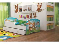 Krásna detská obrázková posteľ s motívom psíka pre Vaše deti.