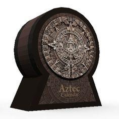 Aztec Calendar Papercraft