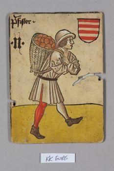 Hungarian Baker -  from pack of playing cards, the 'Household Game', of King Ladislaus the Posthumous - c.1455