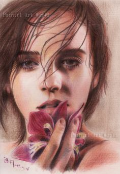 Emma Watson - color pencil by Painirl.deviantart.com on @deviantART