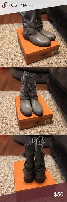 Grey Rocket Dog Boots Grey low calf boots. Great condition only worn a handful of times Rocket Dog Shoes Ankle Boots & Booties