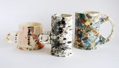 love these splatter painted mugs