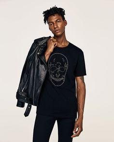 187a6cac865bb Image 2 of SKULL T-SHIRT from Zara Zara