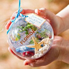 Make a Souvenir Ornament from traveling with kids. This will help entertain the kids on the trip as they look for special things to include in the ornament