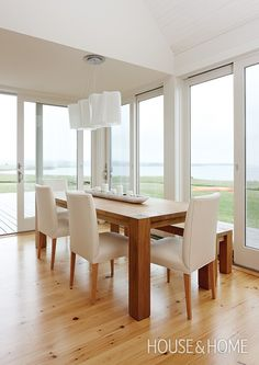 Contemporary Seaside Dining Room | Photo Gallery: Sarah Richardson Designs | House & Home | Photo by Janet Kimber