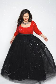 Plus Size Fashion for Women - Plus Size Gal Tutu - Long Black (Sizes 1X - 6X) - Society+ - Society Plus - Buy Online Now!