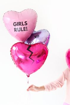 Cute #ValentinesDay Balloons #DIY