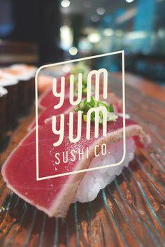 YUM YUM SUSHI CO. - Yan Ping Rebrand by Bibi Munreau, via Behance