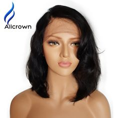 Alicrown Wet Wavy Lace Front Human Hair Wigs Brazilian Short Human Hair Wigs For Black Women Short Full Lace Wig With Baby Hair *** This is an AliExpress affiliate pin. Click the VISIT button for detailed description on AliExpress website