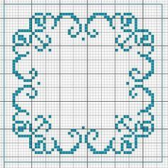 grafico for the back of my biscornu? Mini Cross Stitch, Cross Stitch Heart, Beaded Cross Stitch, Cross Stitch Borders, Cross Stitch Alphabet, Cross Stitch Designs, Cross Stitching, Cross Stitch Embroidery, Cross Stitch Patterns