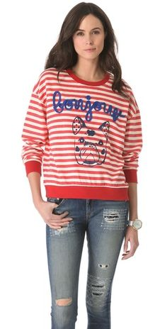 ONE by Stripe by N Bonjour Dog Long Sleeve Tee | SHOPBOP