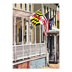 Annapolis MD - Flags Along East Street Card - invitations personalize custom special event invitation idea style party card cards