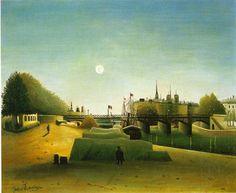 View of Saint-Louis Island Taken from Saint-Nicolas Port, in Evening - Henri Rousseau