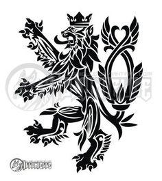 Czech Lion Tattoo