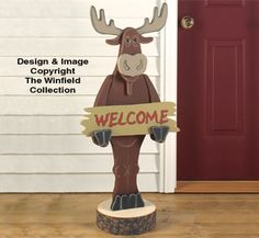 Welcome Moose Woodcraft Pattern