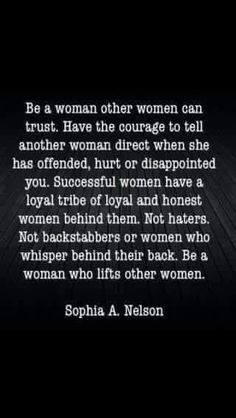 Build each other up, ladies
