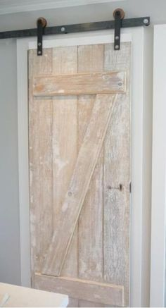 Another example of hanging door system.