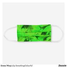 Green Warp 1 Cloth Face Mask Cool Masks, Funky Design, Shades Of Green, Face Masks, Sensitive Skin, Cool Designs, Cool Style, Awesome Stuff, Slot