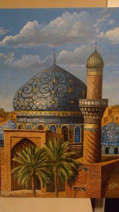 Khalid Almdellal Middle Eastern Art, Arabian Art, Turkish Art, Islamic Art Calligraphy, Happy Art, Indian Paintings, Arabian Nights, Art Pictures, Amazing Art