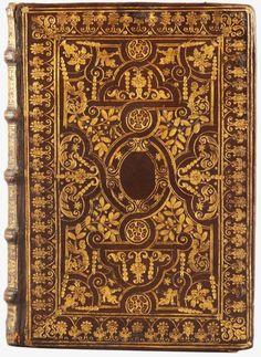 Tooled à la fanfare goatskin binding on a 1667 edition of Dendrologiae naturalis scilicet arborum historiae, the last published work of the so-called Father of Natural History, Ulisse Aldrovandi.  (Like most of Aldrovandi's numerous books, this title was published posthumously).