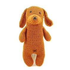 Tofu the Gentle Dachshund: A very nice dog to knit.