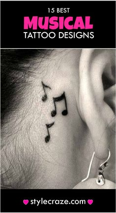 Check out these top 15 music tattoos and lose yourself in music….