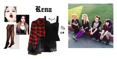 """""""Hey Violet ~ Rena"""" by hanakdudley ❤ liked on Polyvore featuring VILA, Vince Camuto, Dr. Martens, Bling Jewelry, WALL, Wet Seal and Topshop"""